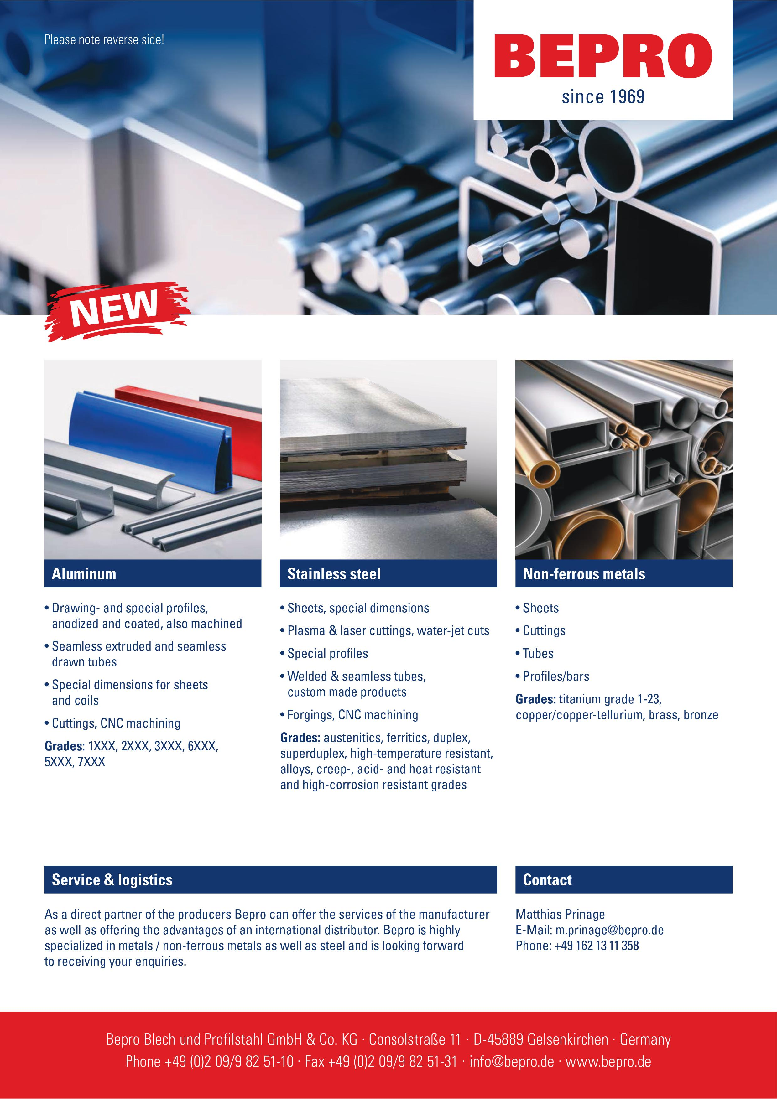 BEPRO Steel Stainless Supplier
